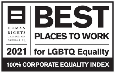 Sony Electronics earned a score of 100 on the Human Rights Campaign Foundation's 2021 Corporate Equality Index for LGBTQ-inclusive workplace policies and practices.