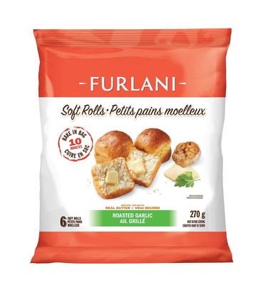 Furlani® Soft Rolls: Roasted Garlic (270g) (CNW Group/Furlani's Food Corporation)
