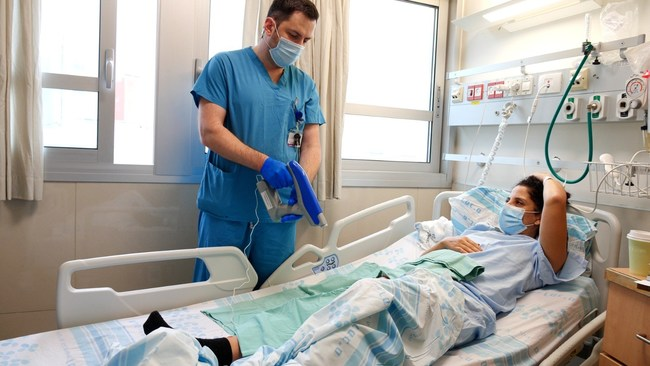 Nanomedic's Spincare Wound Care System in use at Rambam Health Care Campus