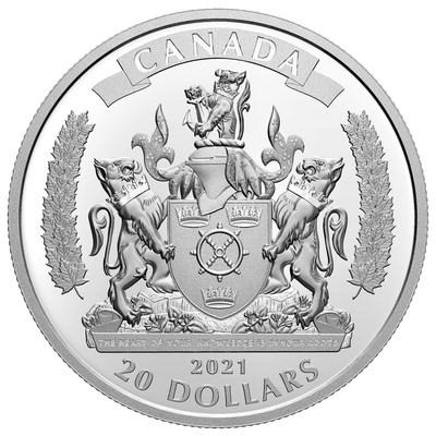 La moneda de plata de colección de la Real Casa de la Moneda de Canadá rinde homenaje a los lealistas negros (CNW Group/Royal Canadian Mint)