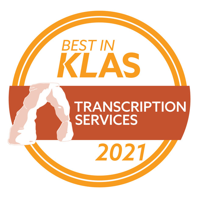 2021 Best In KLAS Transcription Service Award