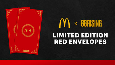 Limited edition McDonald's and 88rising red envelopes available starting Feb. 8