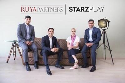 (R-L): Maaz Sheikh, Co-Founder & CEO of STARZPLAY; Karin Baggström, Co-Founder & CFO of STARZPLAY; Rashid Siddiqi, Co-Founder & Managing Partner of Ruya Partners; and Mirza Beg, Co-Founder & Managing Partner of Ruya Partners.