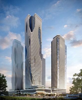Festival towers (CNW Group/Menkes Developments Ltd)