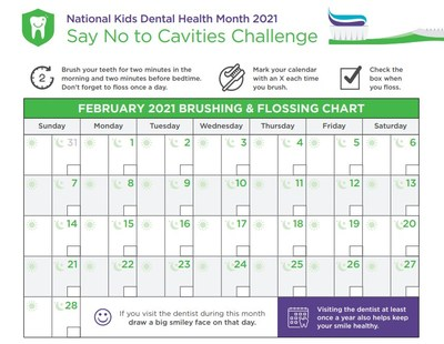 Track your daily flossing and brushing during February's Say No to Cavities Challenge, hosted by Delta Dental of Arkansas.