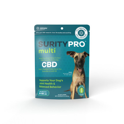 Canopy Animal Health Launches SurityPro™ CBD Line for Dogs (CNW Group/Canopy Growth Corporation)