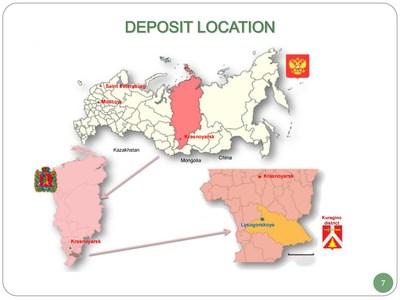 Deposit Location Russia (CNW Group/Cache Exploration Inc.)