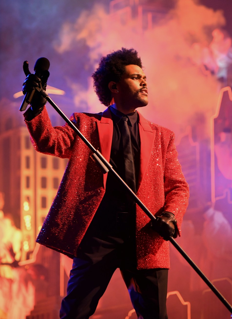 Givenchy dresses The Weeknd for 55th Super Bowl halftime show.