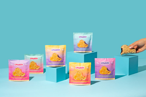 Chubby Snacks (formerly Chubby Organics) launches of its revamped sandwich with additional flavors today. The new cloud shaped sandwich can be purchased online at chubbysnacks.co.
