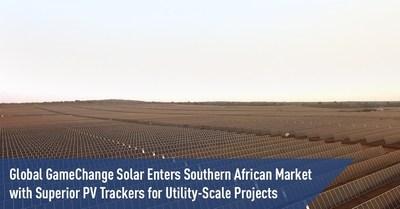 La division internationale de GameChange Solar lance sur le marché sud-africain des traqueurs solaires de pointe pour des projets à des fins commerciales. (PRNewsfoto/GameChange Solar)