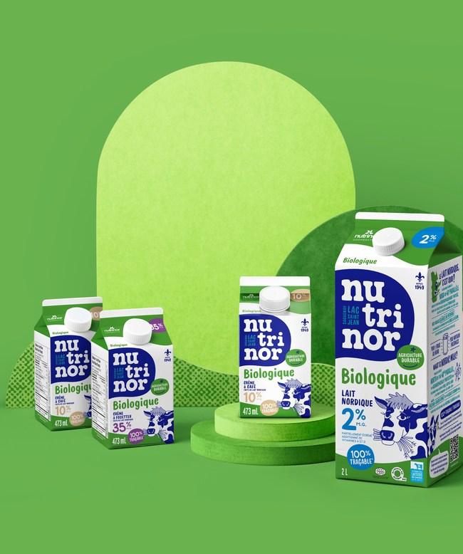 La coopérative Nutrinor présente ses tout premiers produits laitiers issus d'une démarche en agriculture durable (Groupe CNW/Nutrinor coopérative)