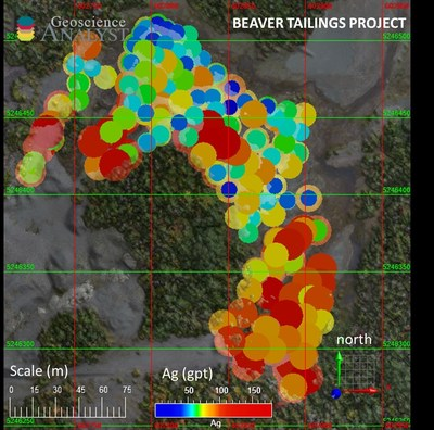 Silver Grade Distribution Map (CNW Group/Canada Silver Cobalt Works Inc.)