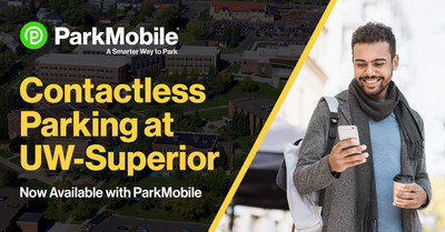 Students and visitors of UW-Superior will now have a safer and more convenient way to pay for parking on campus. (PRNewsfoto/ParkMobile)