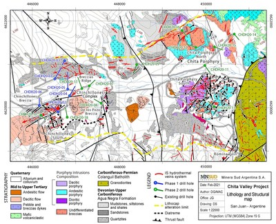 Map 1: Chinchillones and Chita Polymetallic and Porphyry Complex (CNW Group/Minsud Resources Corp.)
