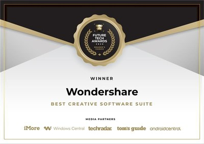 "Wondershare Technology Wins ""Future Tech Award"" for ""Best Creative Software Suite"" at CES 2021"