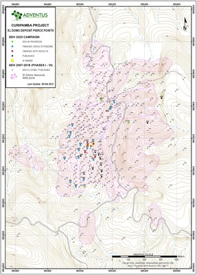 El Domo - Drill Collar Location Map (2021 02 08) (CNW Group/Adventus Mining Corporation)