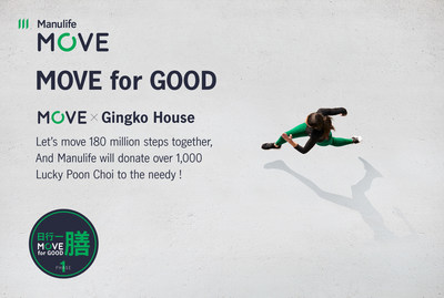 By logging 360 million total steps together during the Chinese New Year, ManulifeMOVE members can help donate 2,200 meals to the needy and earn a charity-edition