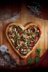 心形的比萨饼回到波士顿披萨