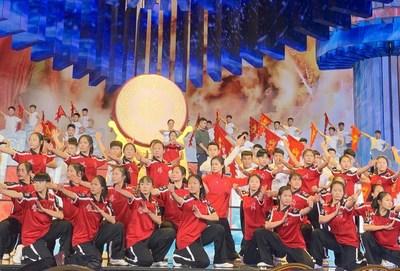 Ensayo del programa con artes marciales chinas para la Gala del Festival de Primavera, 21 de enero de 2020. /CFP (PRNewsfoto/CGTN)