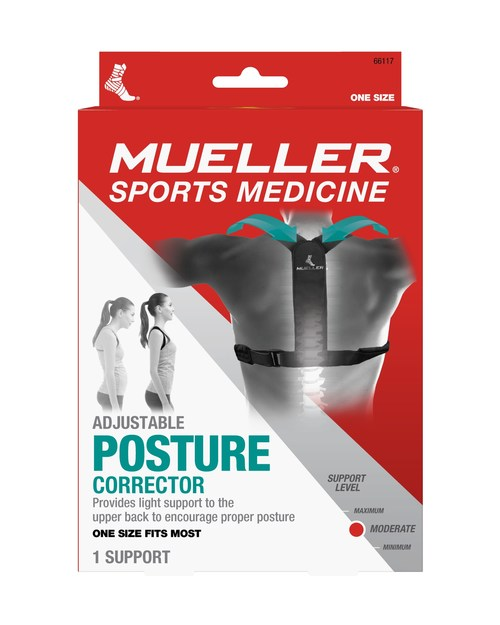 Mueller Sports Medicine, a trusted leader in sports medicine for more than 60 years, has introduced the Adjustable Posture Corrector product targeted for not only athletes, but for people working from home, to help improve their posture.