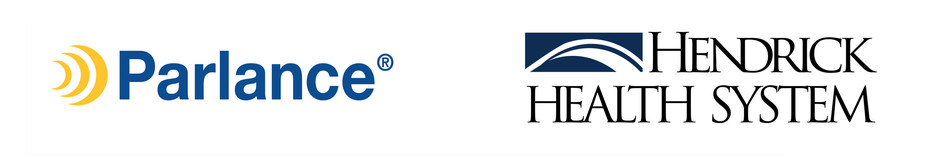Parlance and Hendrick Health logos in horizontal format