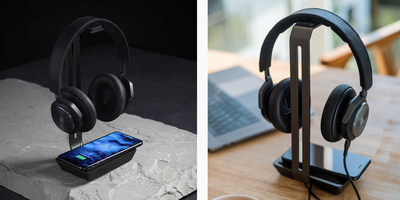 Raptic Rise Headphones Stand & Wireless Charger allows you to power up your headphones and smartphone simultaneously.