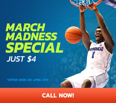 March Madness Special - Just $4 (CNW Group/PayPerHead)