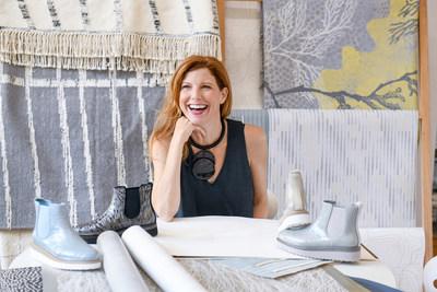 Designer Jill Malek in her studio with Cougar X Jill Malek collaboration on display. - Photo credit: Andrew Werner