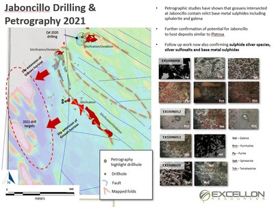 Excellon Drilling with Four Rigs at Platosa (CNW Group/Excellon Resources Inc.)