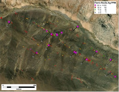 Figure 1. Proposed drill hole locations for El Fierro Bajo (CNW Group/Sable Resources Ltd.)