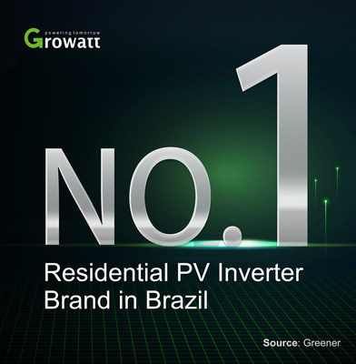Growatt se convierte en el mayor proveedor de inversores PV residenciales en Brasil (PRNewsfoto/Growatt)