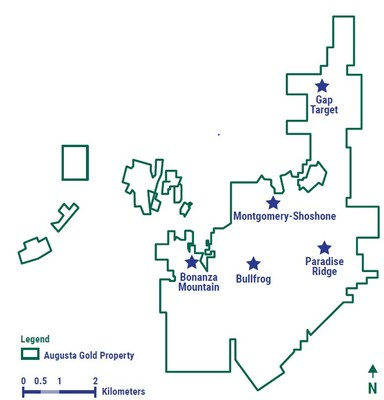 Figure 1: Drill Program Targets (CNW Group/Augusta Gold Corp.)