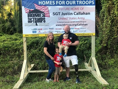 Cinch Home Services recently joined its first Homes For Our Troops Community Kickoff in Jupiter, Florida, where construction began on a specially adapted custom home for Army Sergeant Justin Callahan, who was injured while serving in Afghanistan. The home is expected to be complete later this year.