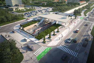 In Ottawa, Otis was recently awarded Stage 2 of its O-Train Light Rail expansion project for nearly 100 elevator and escalator units. Rendering provided by the City of Ottawa.