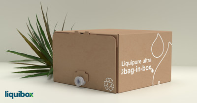 Sustainably simple. Liquipure ultra: recycle-ready flexible packaging from Liquibox now available for beverages.