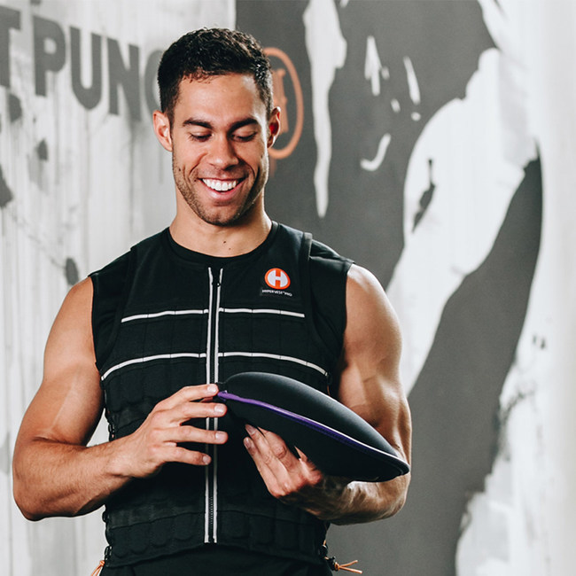 Hyperwear Hyper Vest® ELITE Weight Vest and the SandBell® free weight