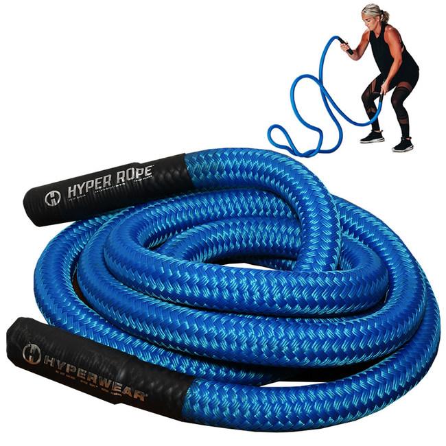 Hyperwear Hyper Rope® flexible metal core short unanchored battle rope