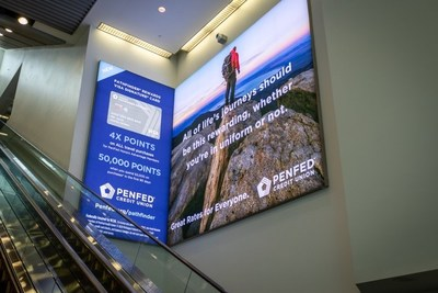 PenFed advertisements within the Washington Dulles International Airport