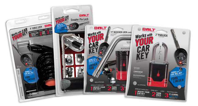 BOLT Lock Products in Retail Packaging