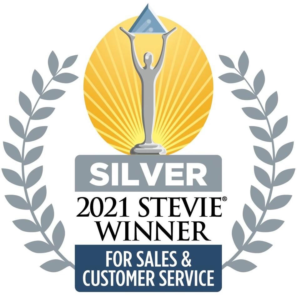 2021 Silver Stevie Winner for Customer Services