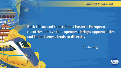 A highlight from President Xi Jinping's keynote speech at the virtual China-CEEC Summit in Beijing, Feb 9, 2021. [Graphic by chinadaily.com.cn]