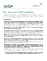 Keyera Corp. Announces 2020 Year End Results (CNW Group/Keyera Corp.)