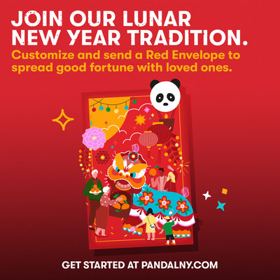 Panda Express launches new digital red envelope experience at www.PandaLNY.com.
