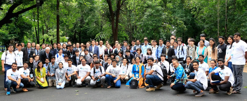 International students of IIT Madras on the campus