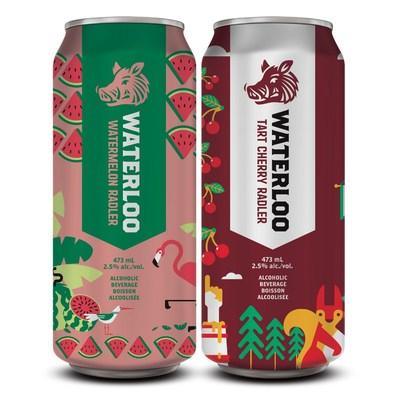 Waterloo Brewing Watermelon Radler and Tart Cherry Radler (CNW Group/Waterloo Brewing Ltd.)