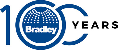Celebrating its 100th anniversary in 2021, Bradley has created the most advanced, coordinated commercial washrooms and comprehensive emergency safety solutions that make public environments hygienic and safe. (PRNewsfoto/Bradley Corporation)