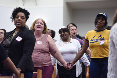 Participants of an Essential Partners dialogue about race and faith in Howard County, Maryland (2018)
