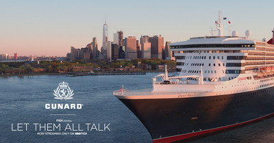 "Queen Mary 2-""Let Them All Talk"" Sweepstakes now live. Visit www.cunardmoviesweeps.com"