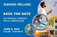 Sherwin-Williams to Hold 2021 Financial Community Presentation Virtually on June 8, 2021