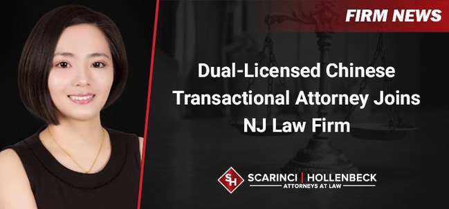 Scarinci Hollenbeck's Lyndhurst, NJ office recently welcomed the addition of Junjuan Song to the firm's Commercial Real Estate and Corporate Transactions & Business Law practice groups.